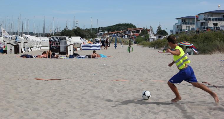 Sport, Spiel, Spaß und frische Meeresluft.