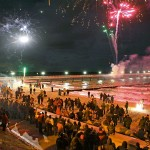 Silvester Feuerwerk Seebrücke quer