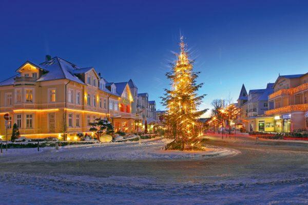 Winter Seebrückenvorplatz