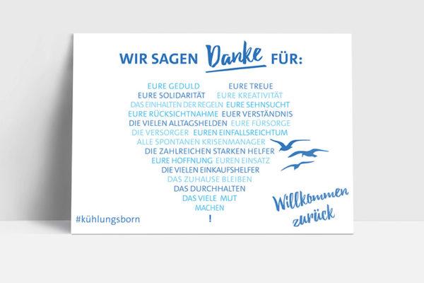 """Postkarte Kampagne """"Willkommen zurück"""" © Tourismus GmbH"""
